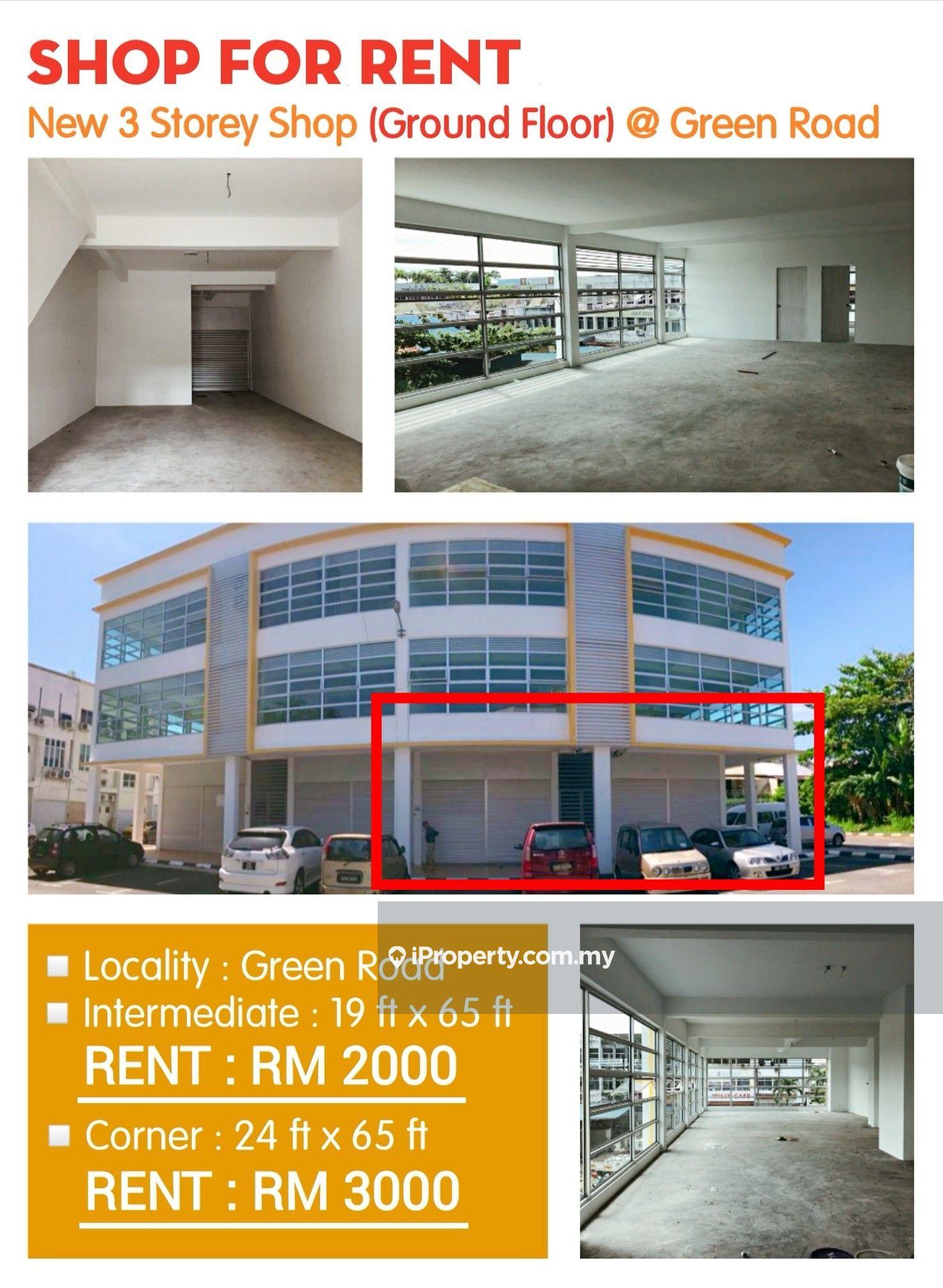 NEW 3-Storey Shop at Green Road Kuching, Kuching