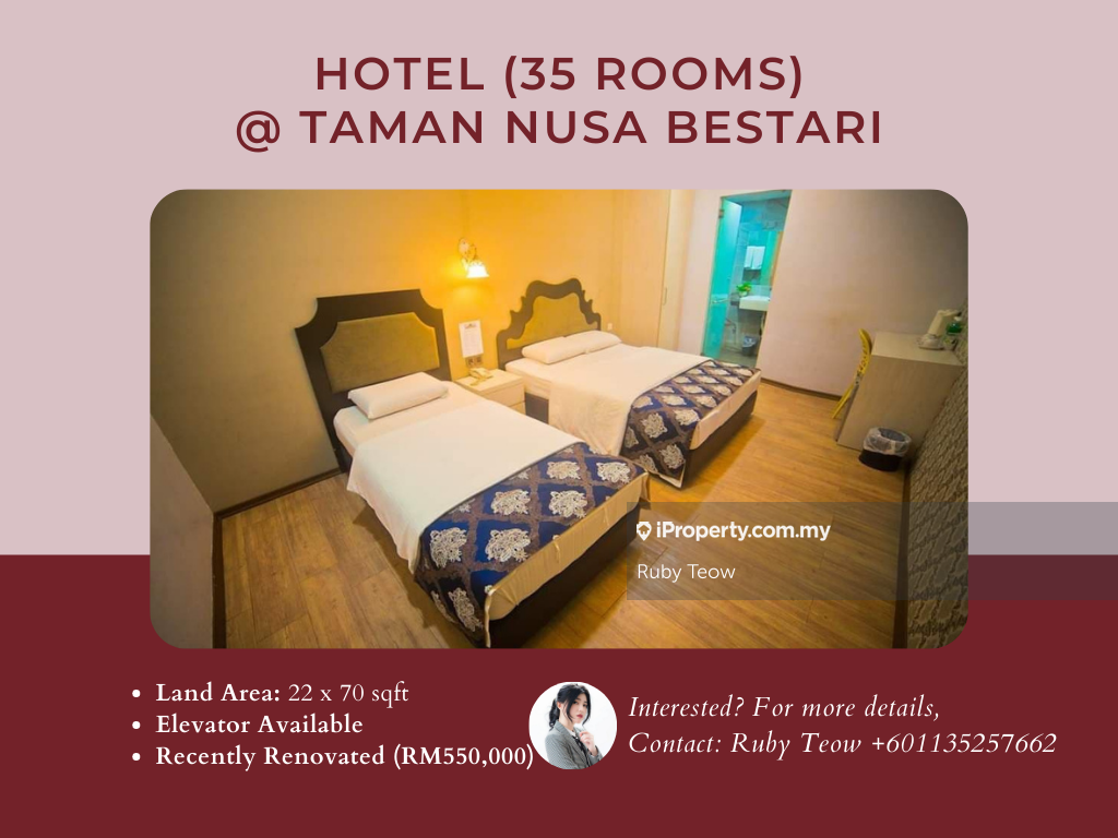 Taman Nusa Bestari Hotel (35 Rooms) for Rent, Taman Nusa Bestari, Skudai