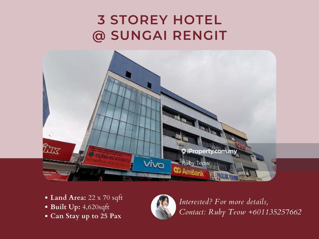 Sungai Rengit 3 Storey Hotel for Rent, Kampung Sungai Rengit, Johor Bahru
