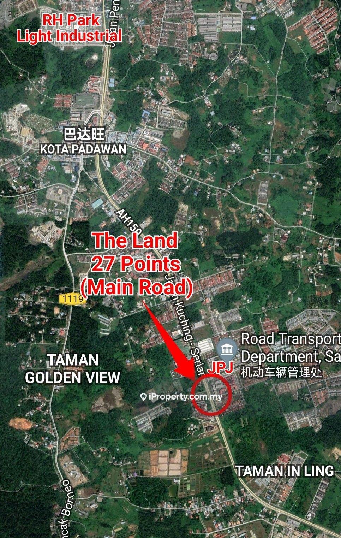 MAIN ROAD Land 27 points at 11 Mile, Kuching
