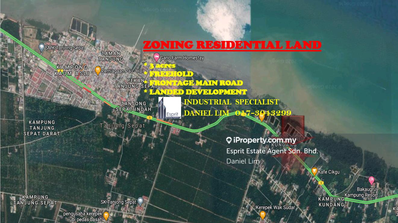 屋业用途 农业地 出售 3 acres AGRICULTURE LAND ZONED RESIDENTIAL, KUNDANG, KUALA LANGAT, Tanjong Sepat