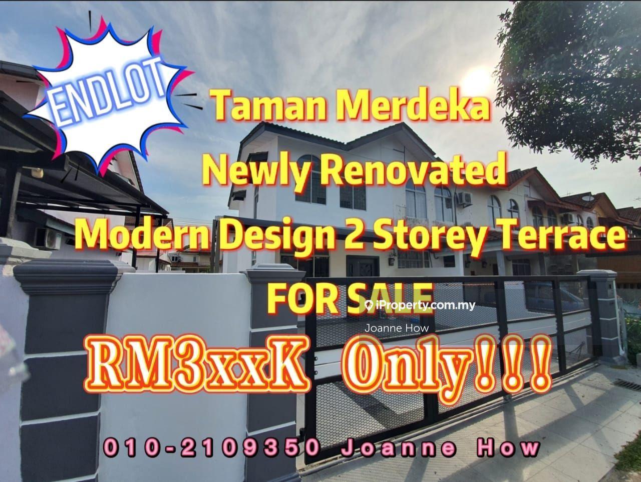 ENDLOT Taman Merdeka 2 Storey Terrace near Cheng, Melaka Tengah
