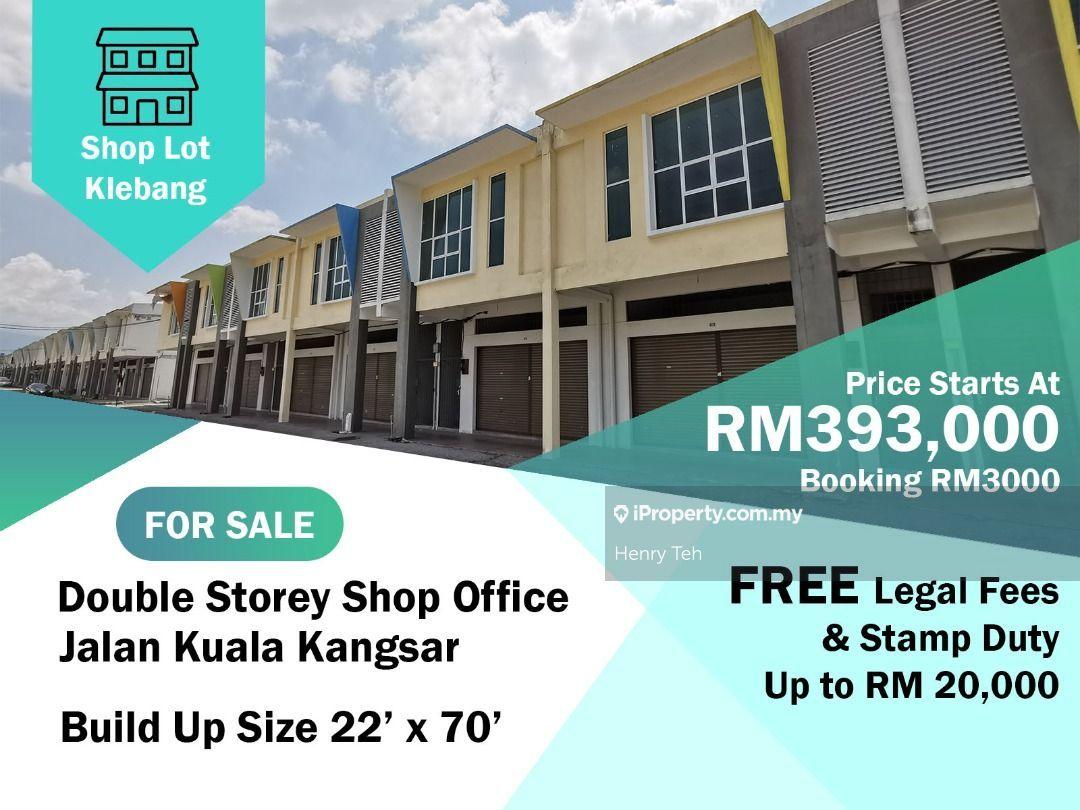 (For Sale) BMV Free Legal Fee & Stamp Duty 2 Sty Shoplot @ Klebang Indah, Klebang Precinct 8, Ipoh