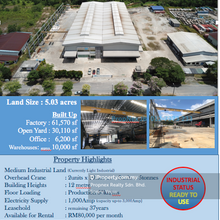 Bandar Penawar Factory For Sale, Pengerang Factory For Sale, Kota Tinggi Industrial For Sale, Bandar Penawar, Kota Tinggi