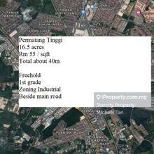16.5 acres FIRST GRADE Land (Zoning Industri)   Beside Main Road   FOR SALE, Bukit Mertajam , Permatang Tinggi