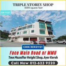 Corner Face Main Road 3 Sty Shop Muzaffar Height Ayer Keroh, Corner Face Main Road Muzaffar Height Ayer Keroh, Ayer Keroh