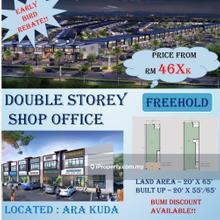 Projek baru kedai 2 tingkat di Ara Kuda, Kulim