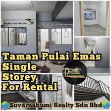 TAMAN PULAI EMAS SINGLE STOREY JB FOR RENTAL, Skudai