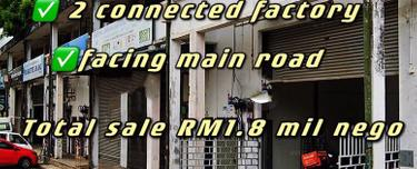 Permas 2 connected 1.5 storey factory for Sale , Permas 2 connected 1.5 storey factory for Sale , Permas Jaya 1
