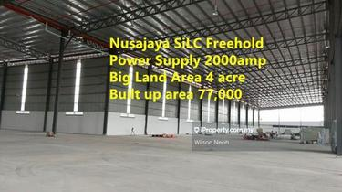 Silc nusajaya freehold high tension power factory sale , Iskandar Puteri (Nusajaya) 1