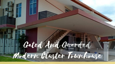 Freehold Gated & Guarded Modern Cluster Townhouse, Alor Gajah 1
