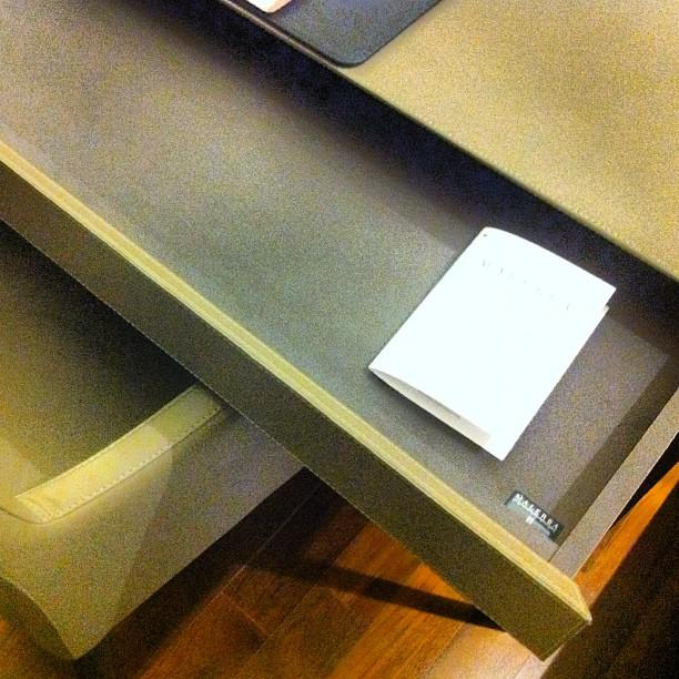 Soft Close Malebra Leather Desk