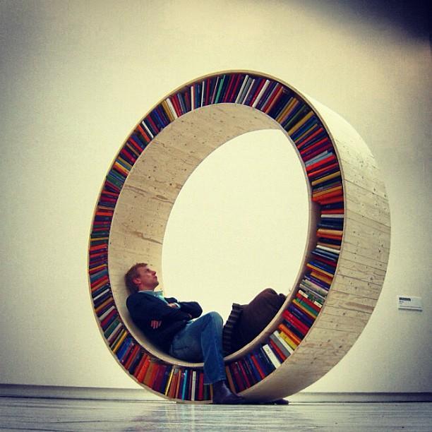 Circular Bookshelf ... Credit Tumblr
