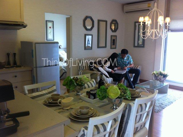 โต๊ะอาหารและห้องรับแขก