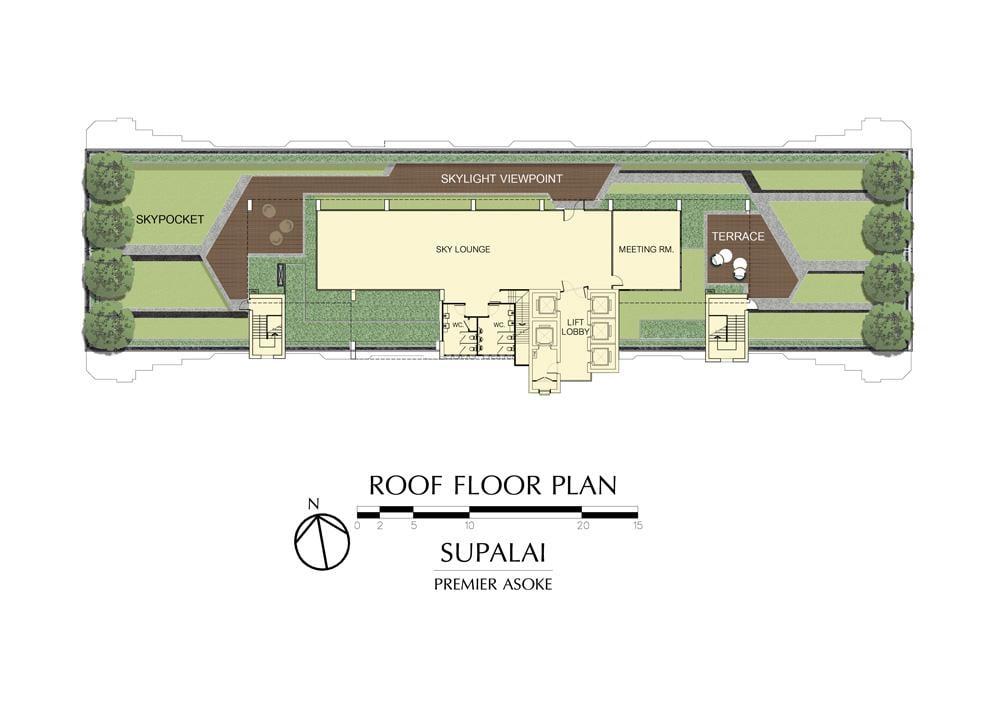 ศุภาลัย พรีเมียร์ อโศก Roof Floor