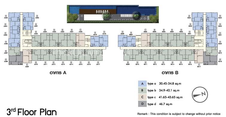 Floor Plan อาคาร B