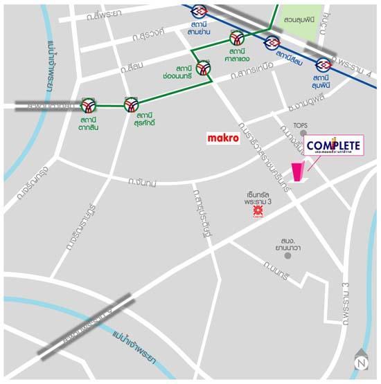 คอนโด The Complete นราธิวาส - แผนที่
