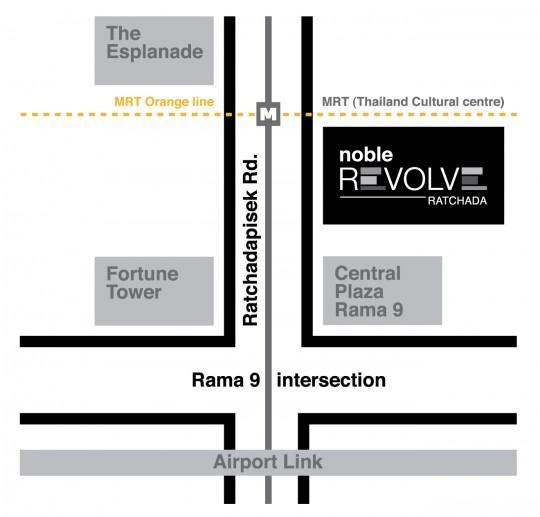 Map - Noble Revolve Ratchada