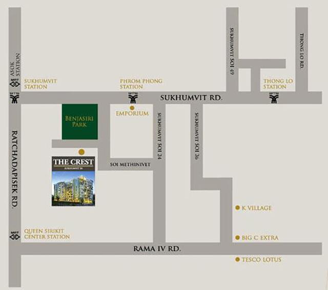 2_the-crest-sukhumvit-24-map