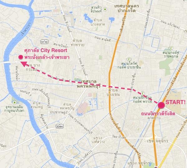 supalai พระนั่งเกล้า - direction maps 1