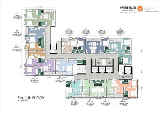 North Beach_Floor Plan-5th-11th Floor