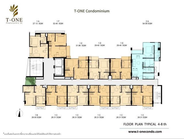 Floor plan 4-8 th