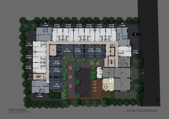floor plan the unique sukhumvit 62:1 L2