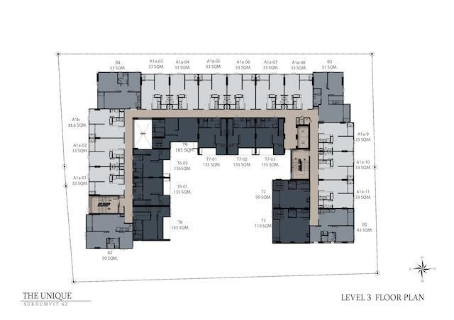 floor plan the unique sukhumvit 62:1 L3