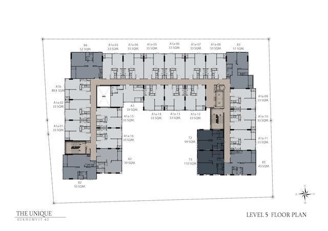 floor plan the unique sukhumvit 62:1 L5