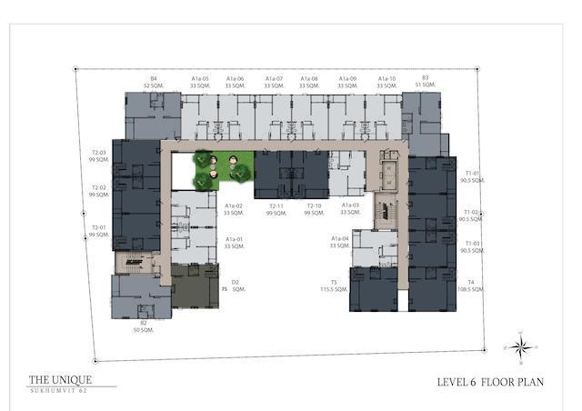floor plan the unique sukhumvit 62:1 L6