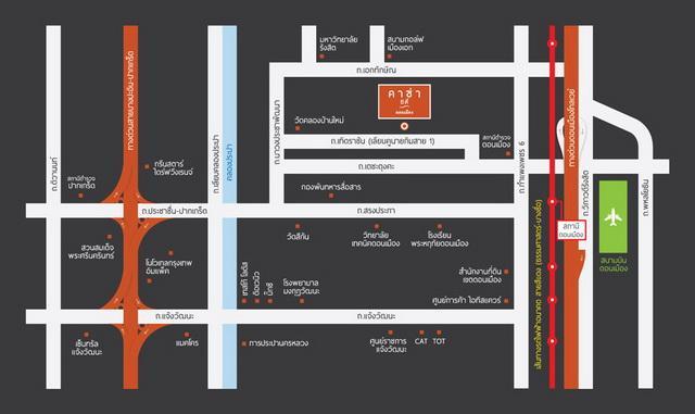 CasaCityดอนเมือง_Map_Official