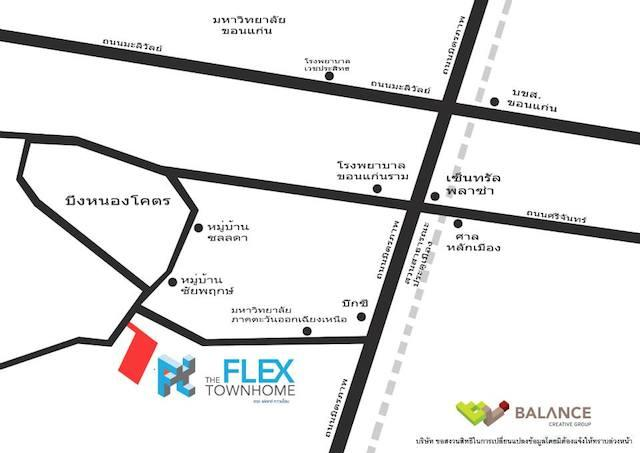 the flex townhome map