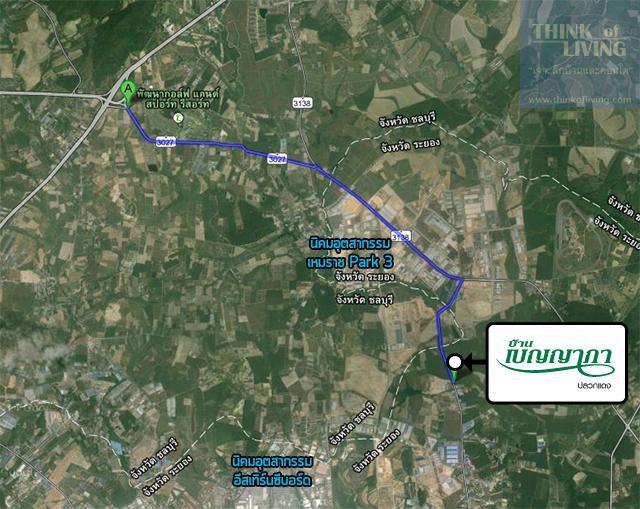 บ้านเบญญาภา_Map_Route