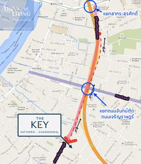 TheKeyสาทรเจิรญราษฎร์_Map_ตรง