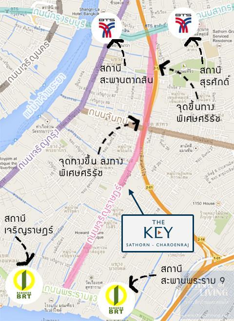 TheKeyสาทรเจิรญราษฎร์_Map_Transportation