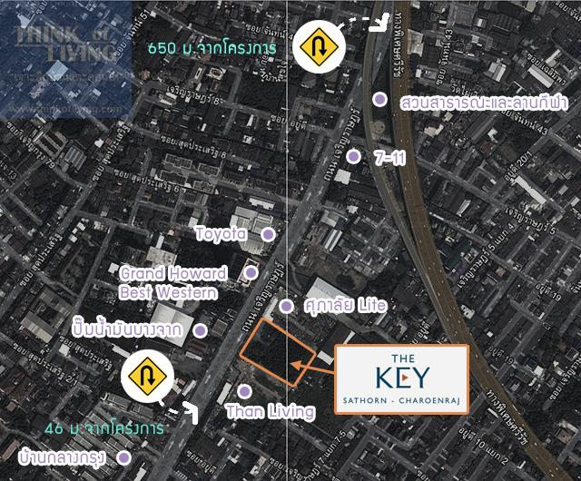 TheKeyสาทรเจิรญราษฎร์_Map_U-turn