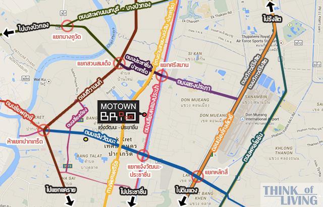 แผนที่กว้าง Motown Brio