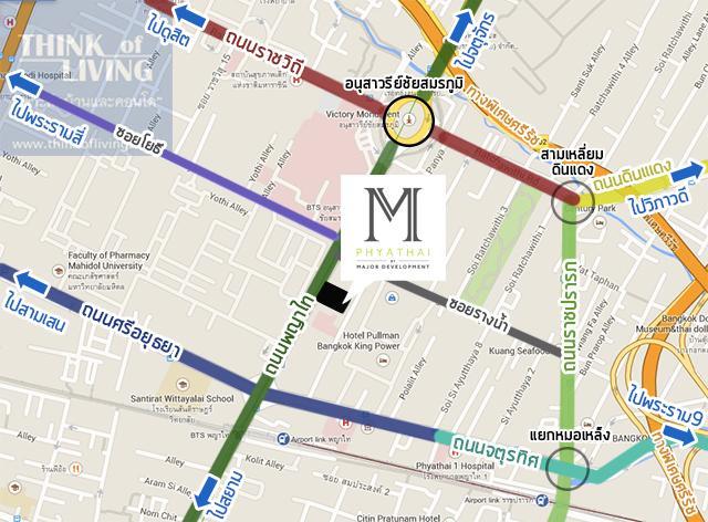 MAP 1 3km m phyathai
