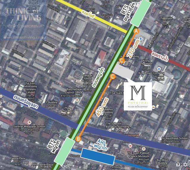 MAP 3 route m phyathai