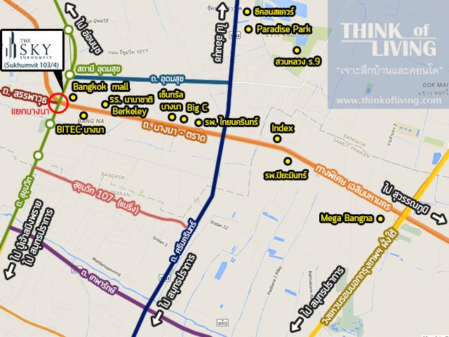 The sky sukhumvit _ Overall map