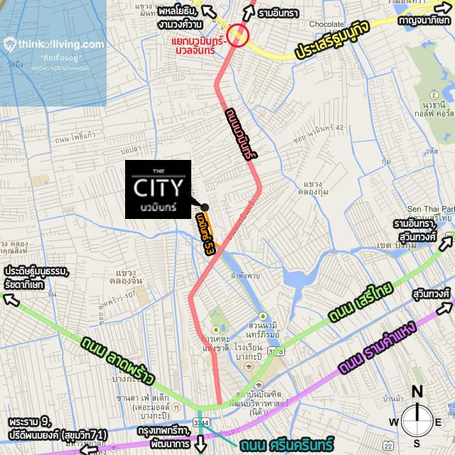 mapกว้าง City นวมินทร์