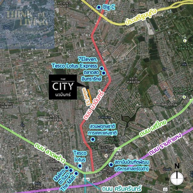 map สถานที่ The city