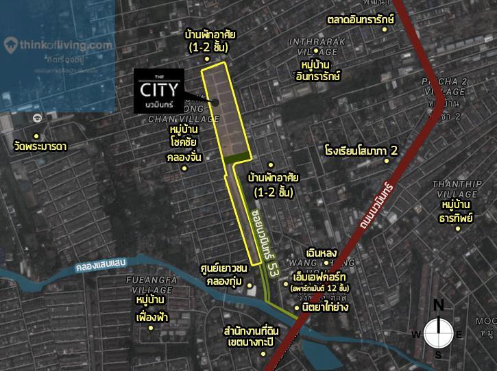 แผนที่ซูม the city