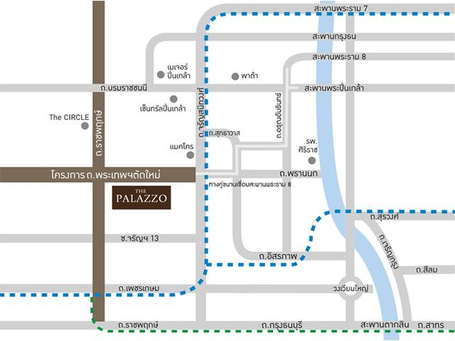 The Palazzo จรัญ project map