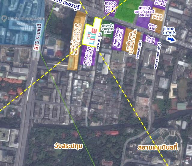 TheLineราชเทวี_Map_ViewSouth4_WM