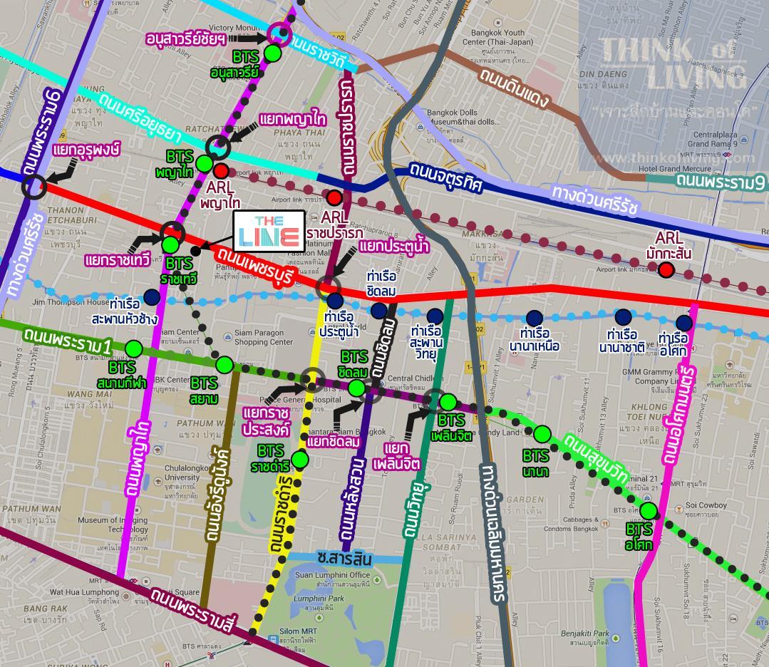 TheLineราชเทวี_Map_Walk