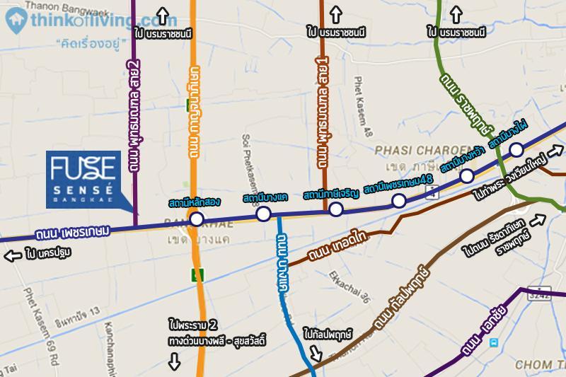 Fuse Sense บางแค Overall Map3