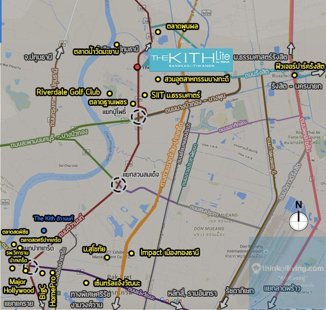 The Kith Lite บางกะดี - ติวานนท์ Map ความอุดม