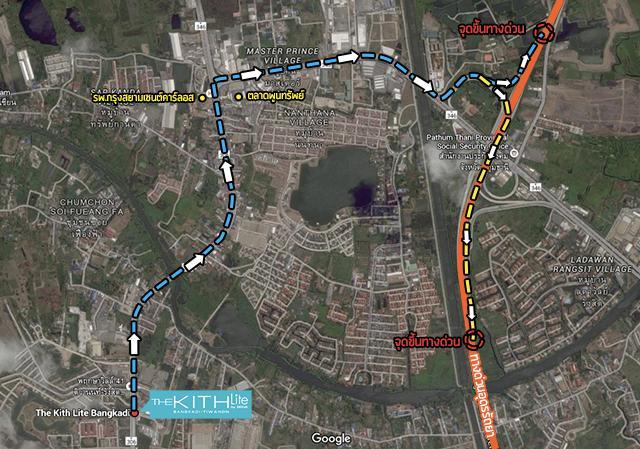 The Kith Lite บางกะดี - ติวานนท์ Map ทางด่วน