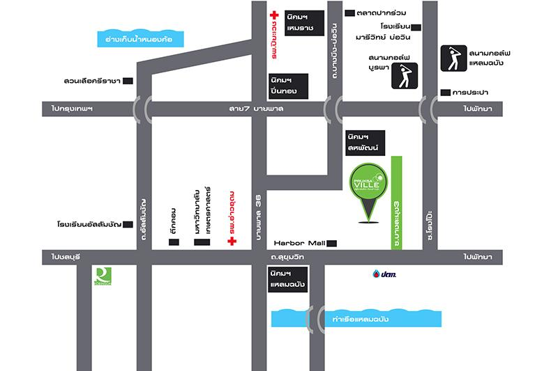 พฤกษาวิลล์ แหลมฉบัง Project MAP
